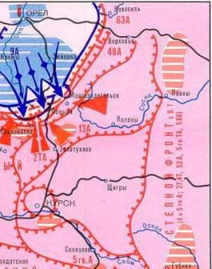 Курская битва оборонительные